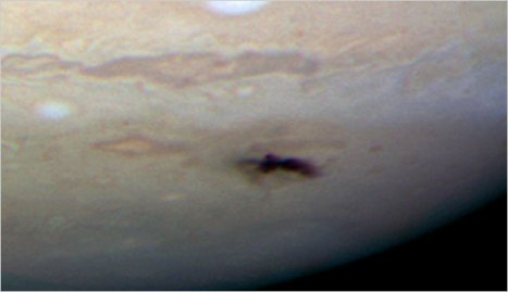New dark spot on Jupiter taken with Hubble's Wide-Field Camera 3 on July 23.