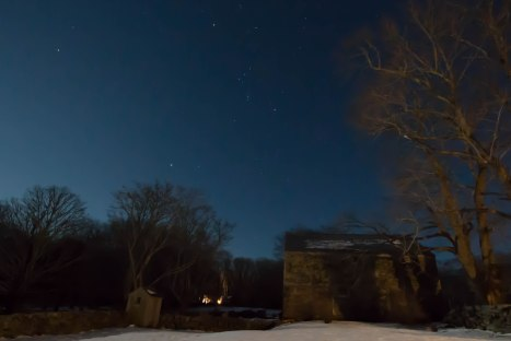 Orion as seen from the Town Farm in Westport, MA in the winter of 2014. (Photo by Greg Stone)